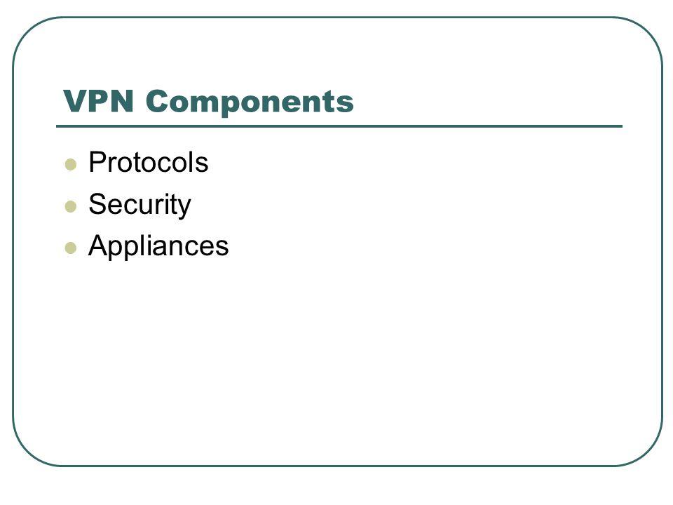 VPN Components Protocols Security Appliances