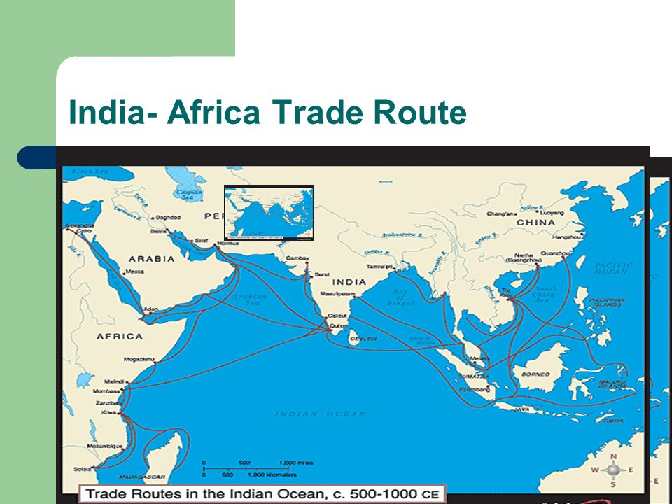 India- Africa Trade Route
