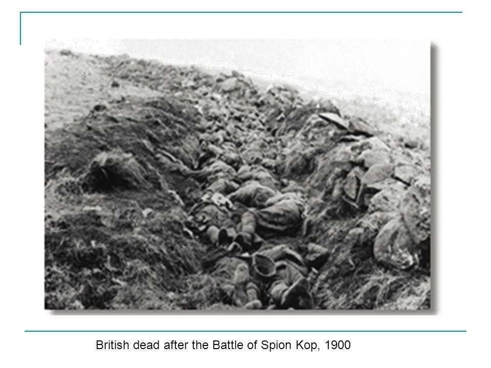 British dead after the Battle of Spion Kop, 1900