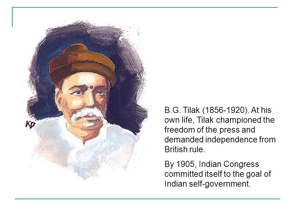 B.G.Tilak (1856-1920).