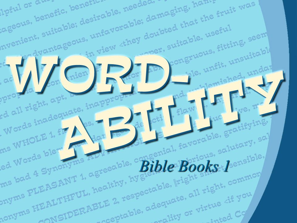 Bible Books 1