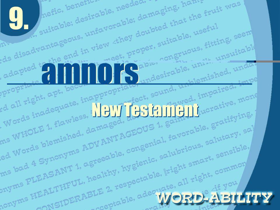 9. amnors amnors New Testament