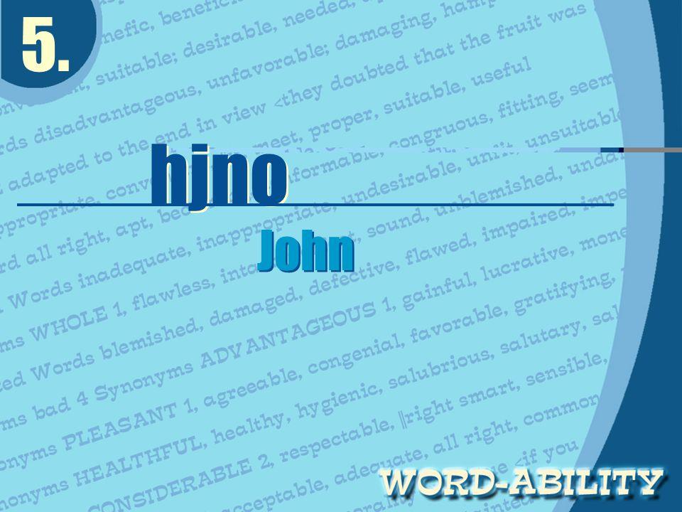 5. hjno John John