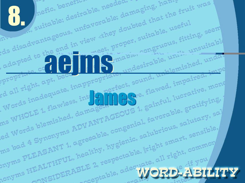 8. aejms James James