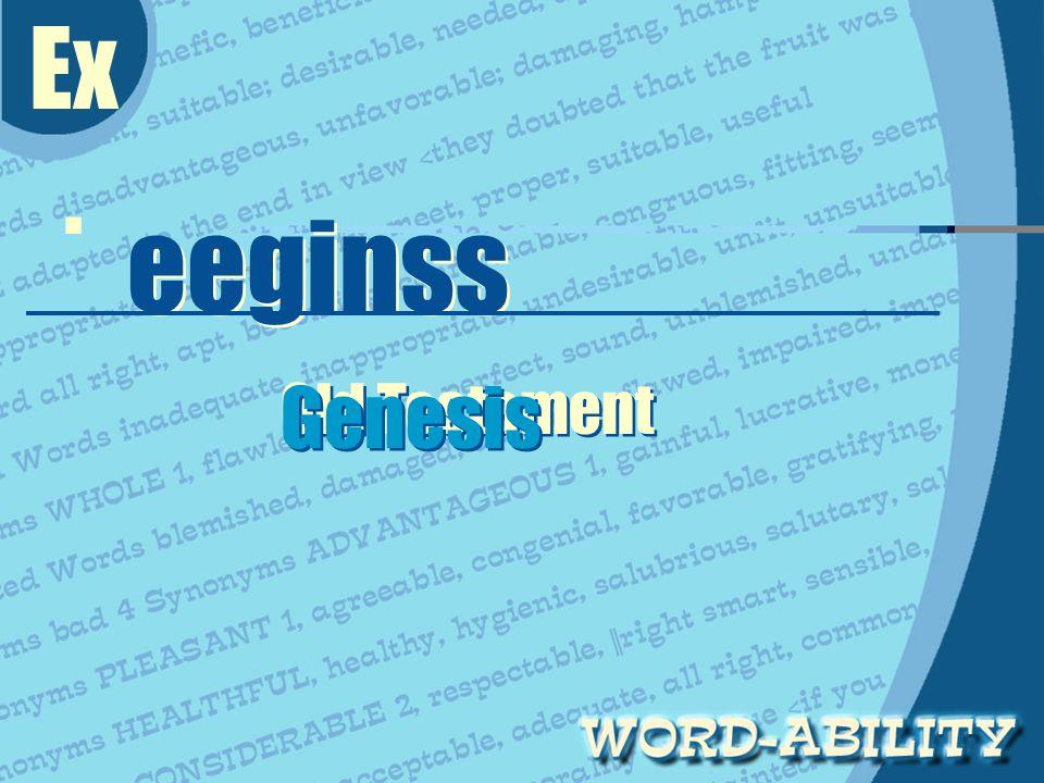 Ex. eeginss eeginss Old Testament Genesis Genesis