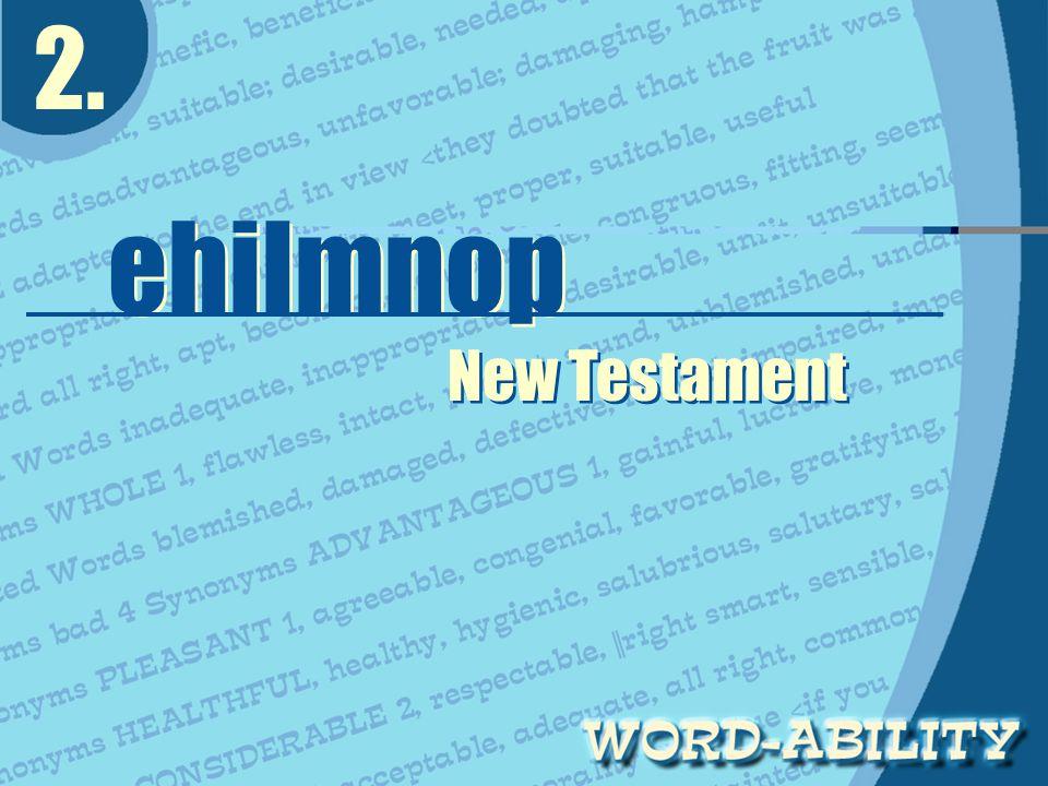 2. ehilmnop ehilmnop New Testament