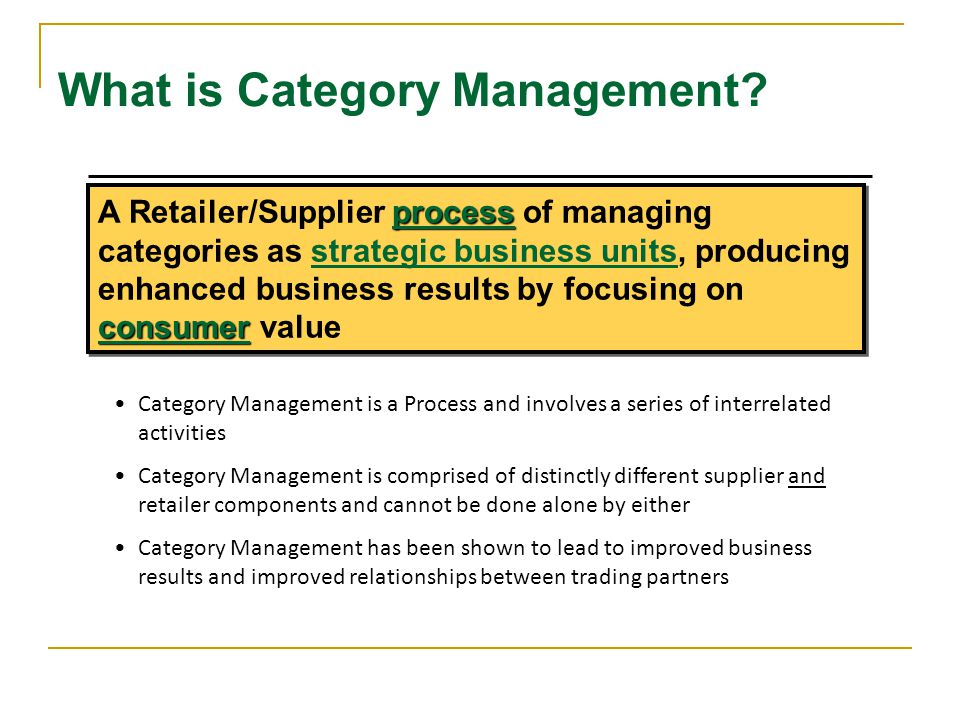 What is Category Management.