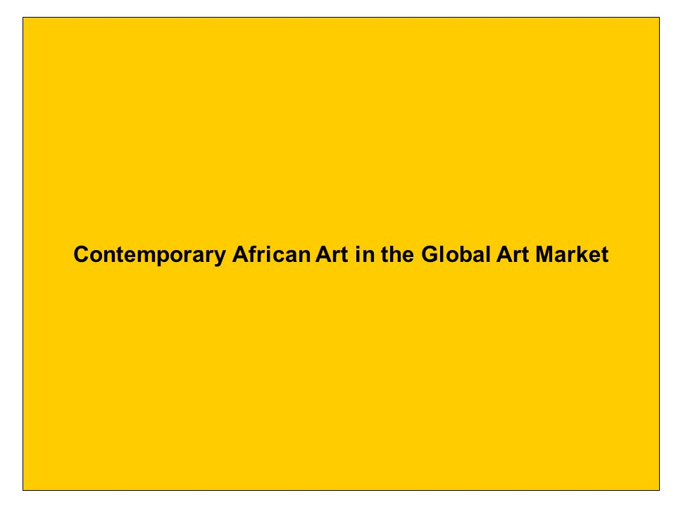 Contemporary African Art in the Global Art Market
