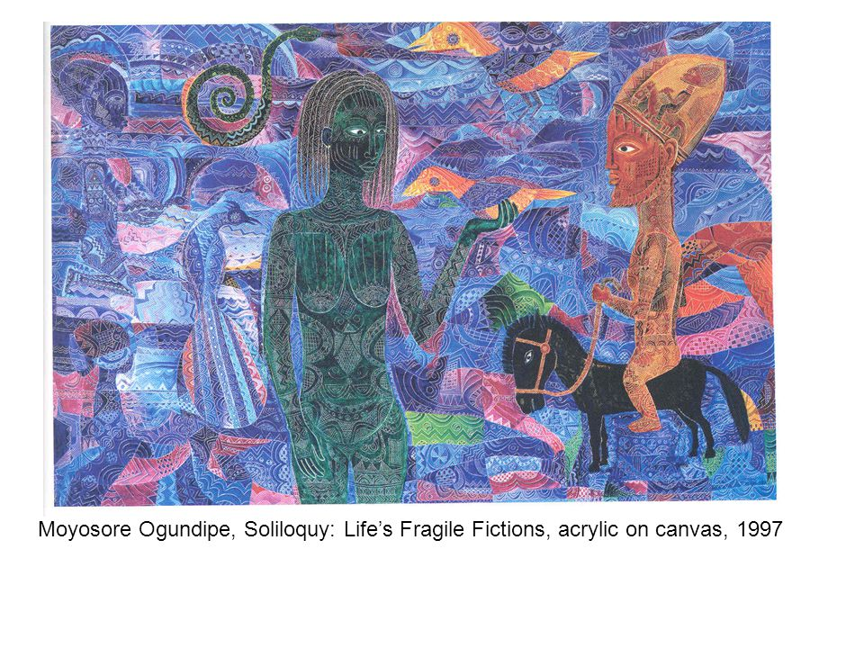 Moyosore Ogundipe, Soliloquy: Life's Fragile Fictions, acrylic on canvas, 1997