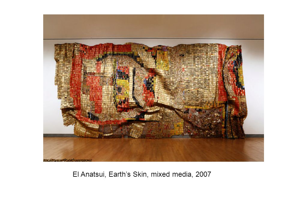 El Anatsui, Earth's Skin, mixed media, 2007