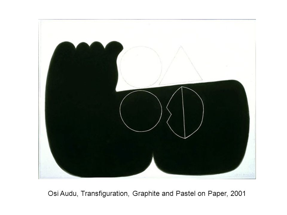 Osi Audu, Transfiguration, Graphite and Pastel on Paper, 2001