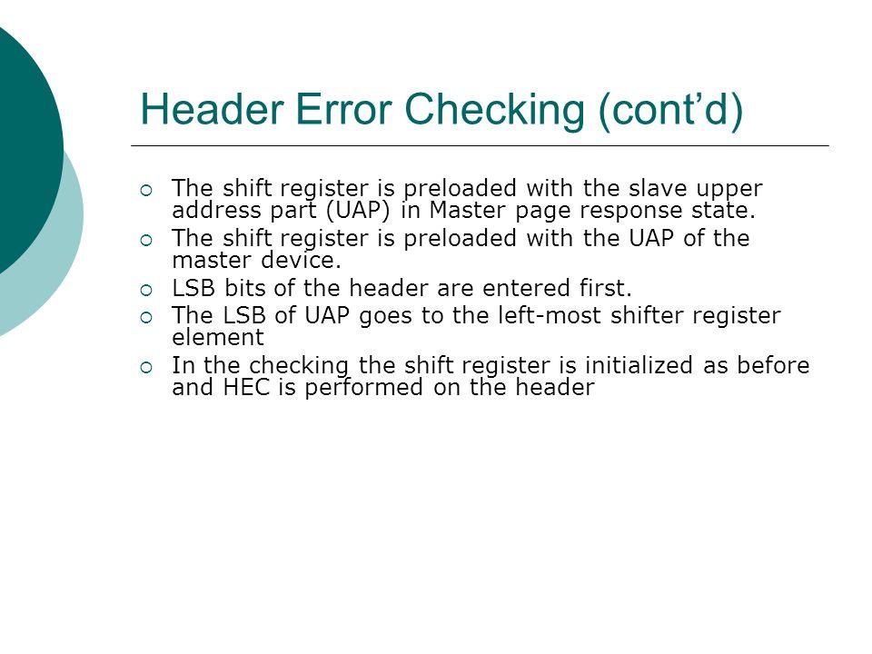 Header Error Checking (block)  HEC Generator Top Block diagram  HEC Checker Top Block diagram