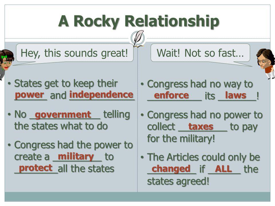 Congress had no way to __________ its _______! Congress had no way to __________ its _______! Congress had no power to collect _________ to pay for th