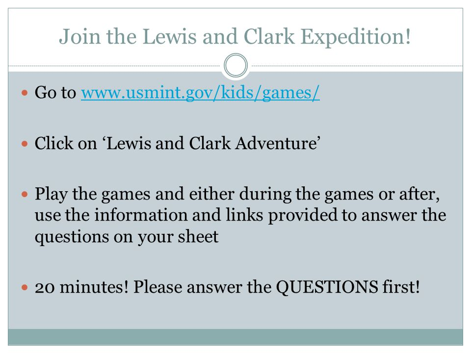 Join the Lewis and Clark Expedition.