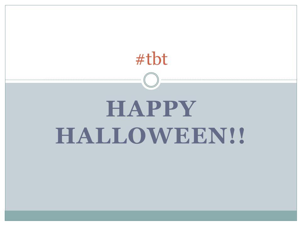 HAPPY HALLOWEEN!! #tbt