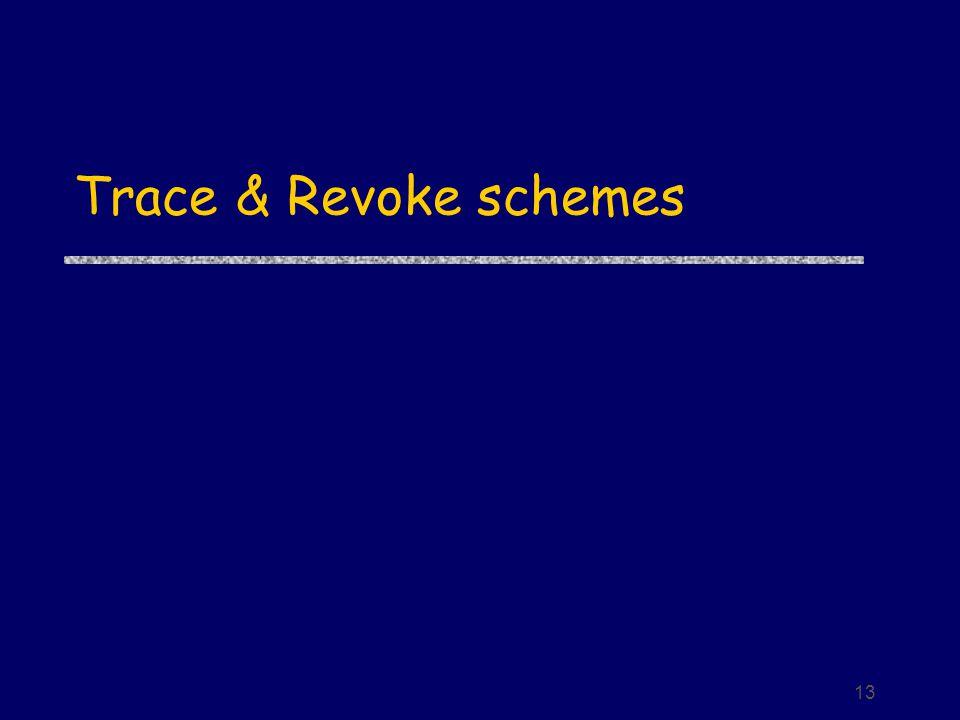 13 Trace & Revoke schemes
