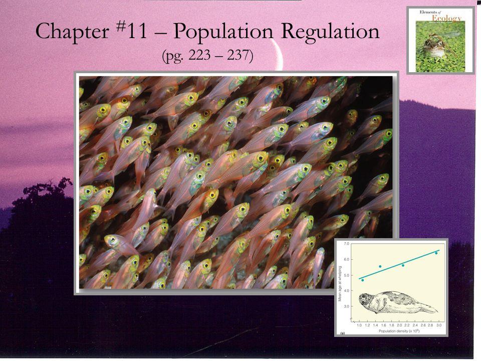 Chapter # 11 – Population Regulation (pg. 223 – 237)