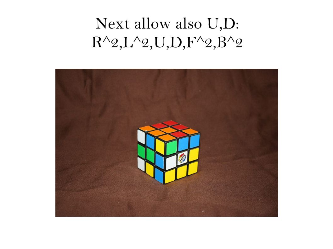Next allow also U,D: R^2,L^2,U,D,F^2,B^2
