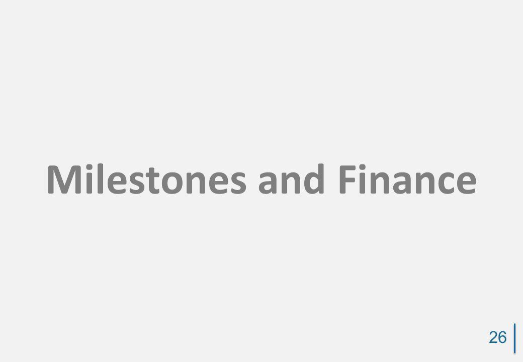 Milestones and Finance 26