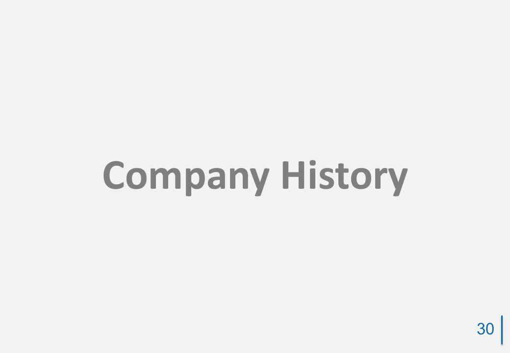 Company History 30
