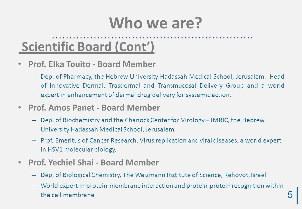 Prof. Elka Touito - Board Member – Dep.