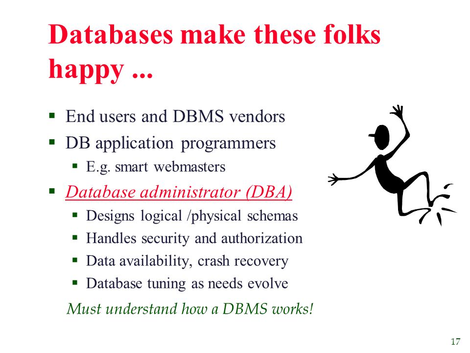 17 Databases make these folks happy...