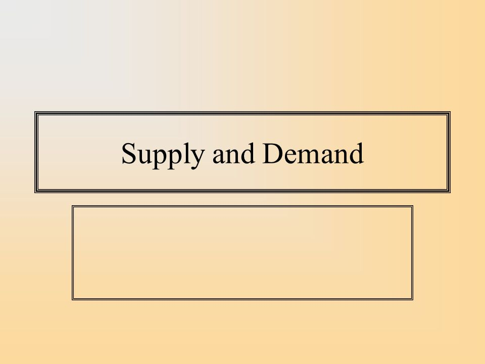 A Shift in the Supply Curve is a Movement along the Demand curve- Price and Quantity Move in opposite Directions SD P Q P* Q* P** Q** S′S′