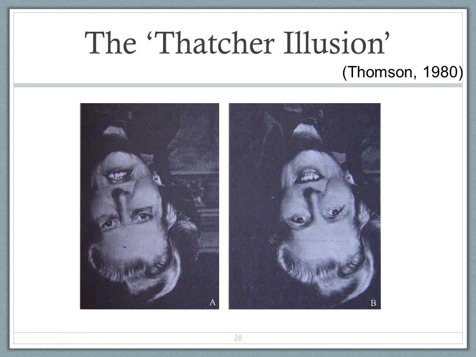 26 The 'Thatcher Illusion' (Thomson, 1980)