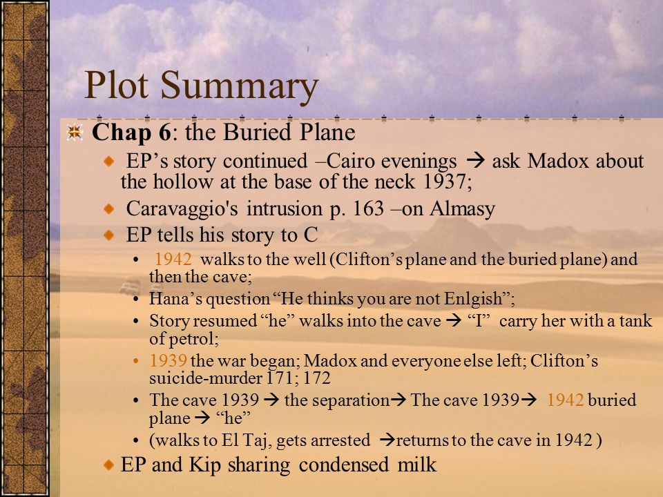 Plot Summary –for Next Week Chap VII: In Situ (meaning: in the natural or original position or place 1940) -- Kip's story of being trained as a sapper; Kip vs.