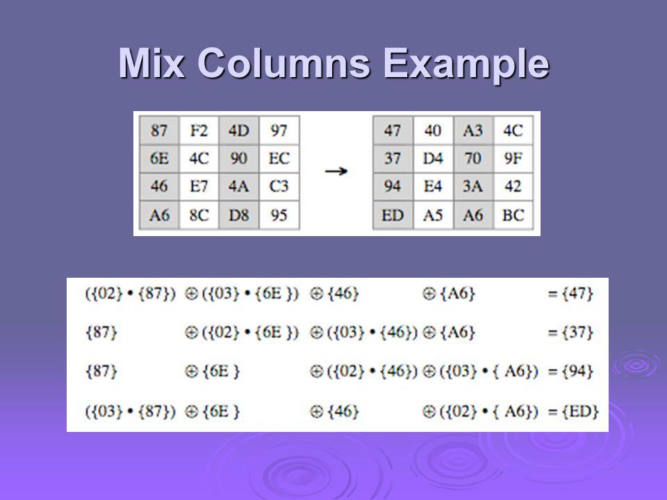 Mix Columns Example