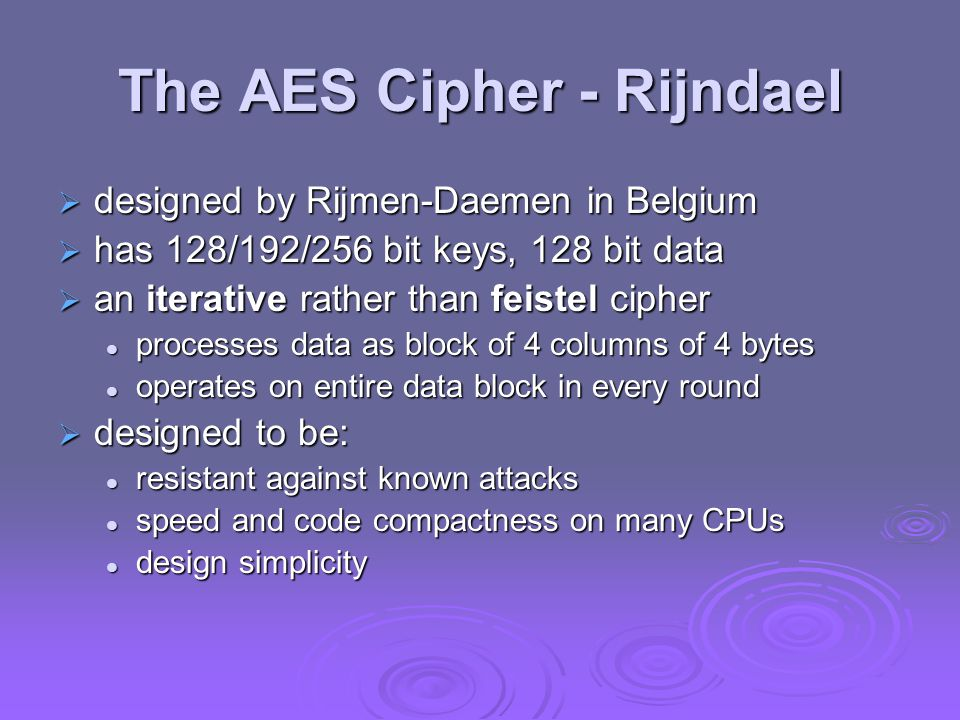 AES Encryption Process