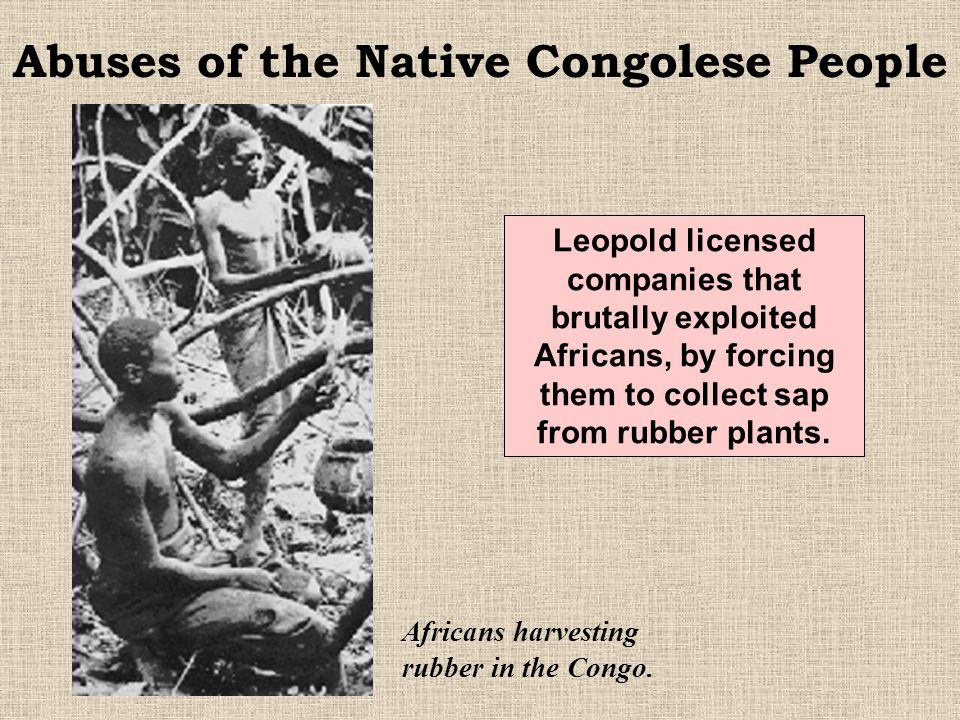 In 1882 a treaty was signed with local chiefs of the Congo River valley. The treaties gave King Leopold II of Belgium personal control over the land.