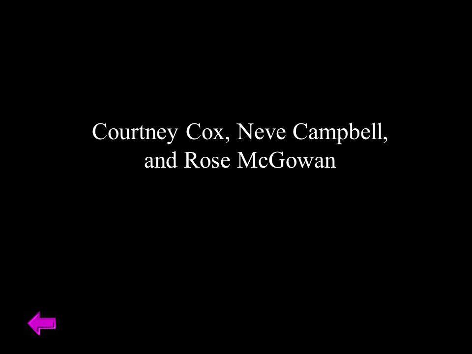Courtney Cox, Neve Campbell, and Rose McGowan