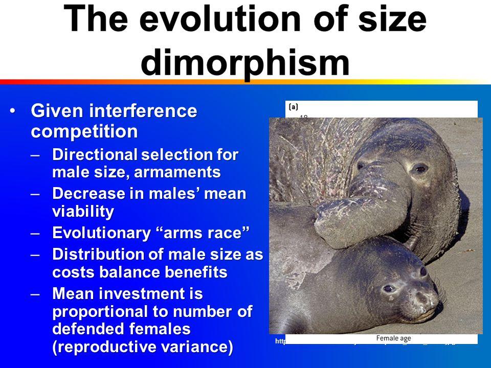 Male size vs.male trait sizeMale size vs.