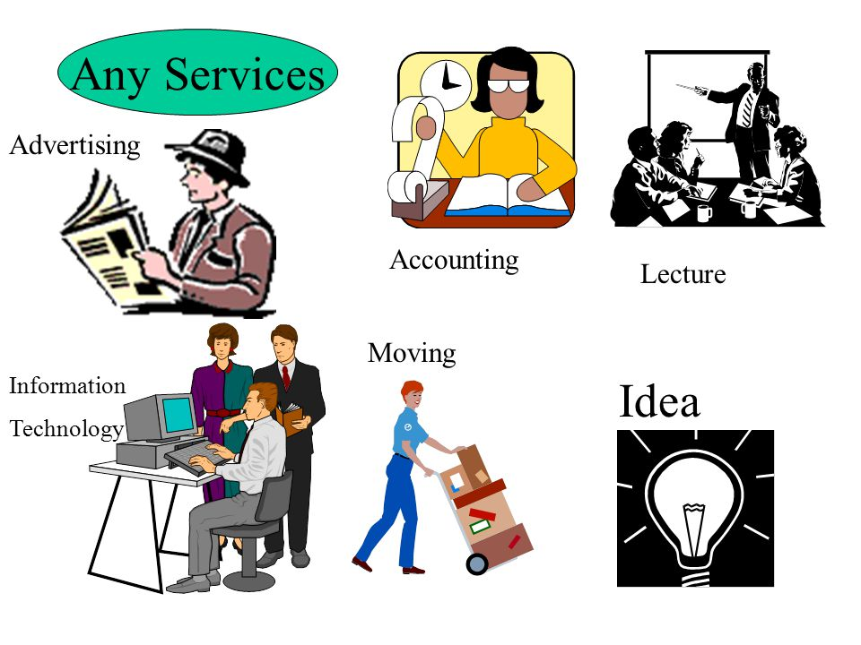 Any Services Idea Lecture Accounting Advertising Moving Information Technology