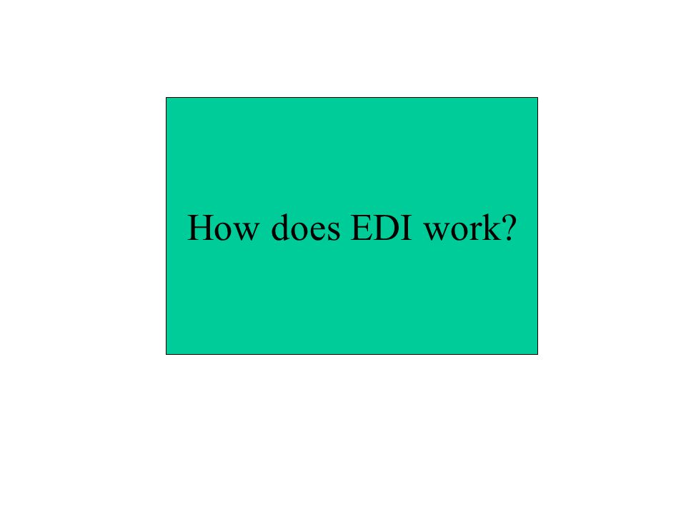How does EDI work