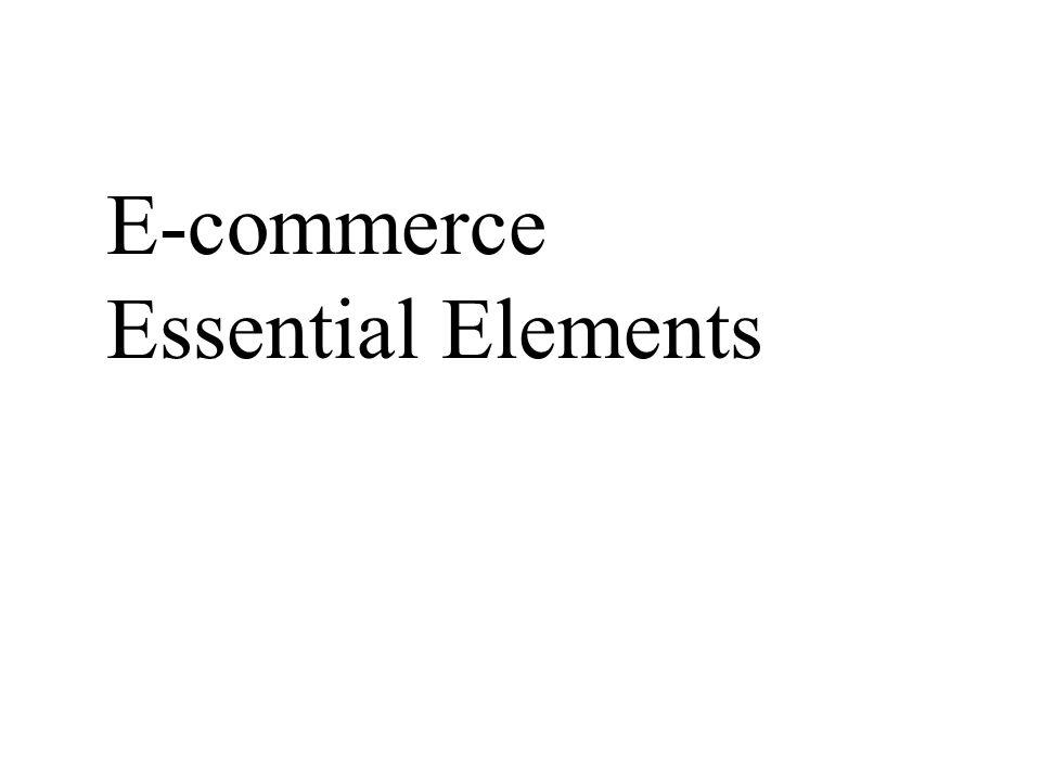 E-commerce Essential Elements