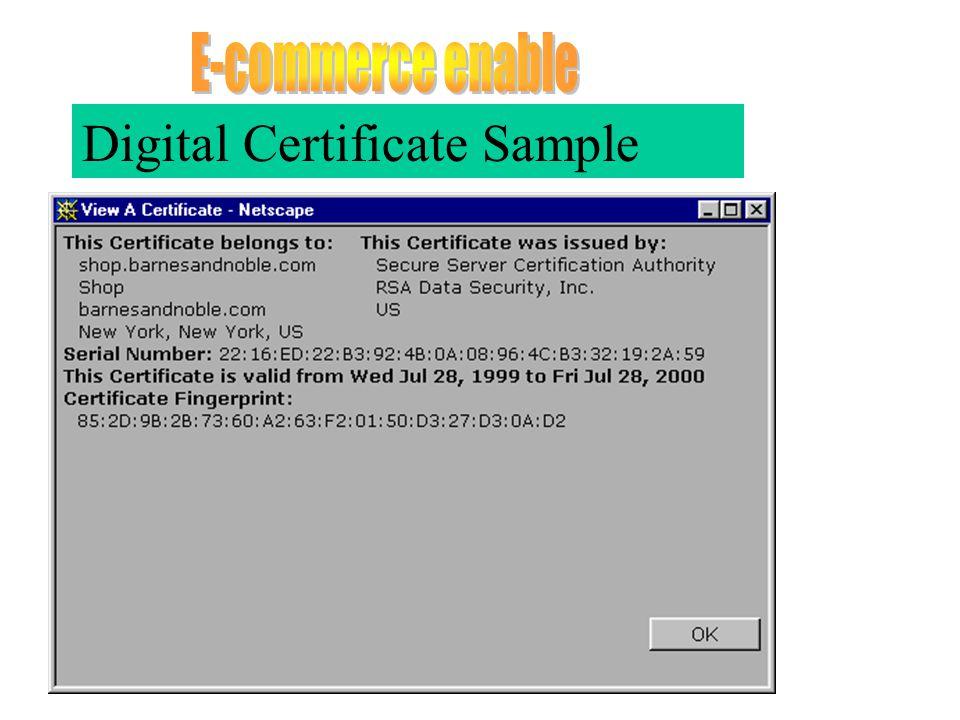 Digital Certificate Sample