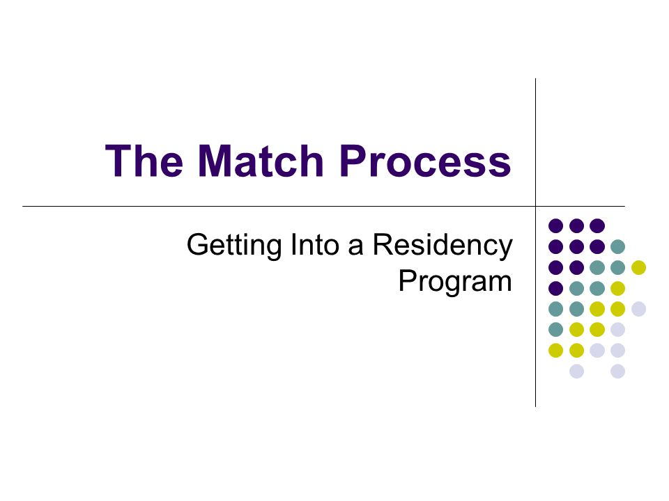 The Match Process Getting Into a Residency Program