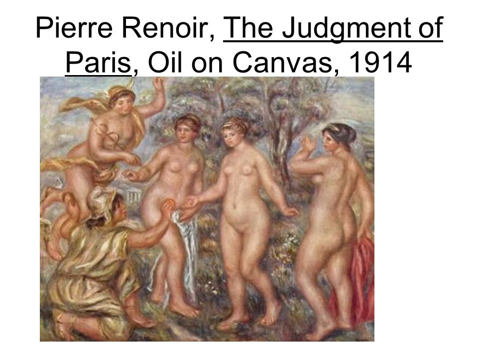 Pierre Renoir, The Judgment of Paris, Oil on Canvas, 1914