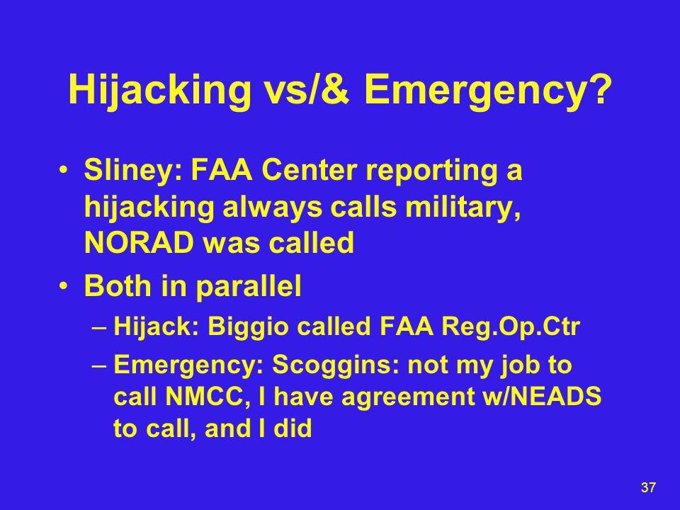37 Hijacking vs/& Emergency.
