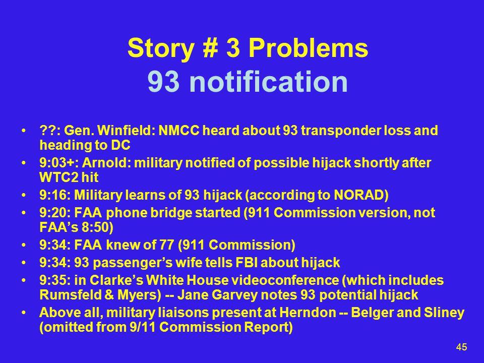 45 Story # 3 Problems 93 notification : Gen.