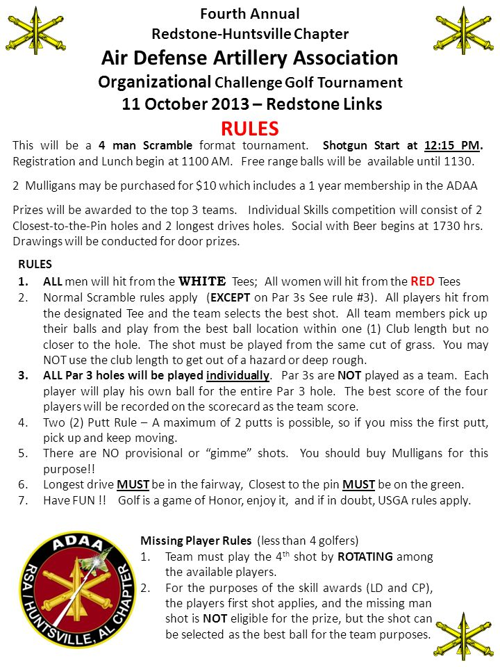Rules to compete for the Annual Rotating ADAA Trophy 1.