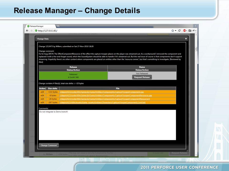 Release Manager – Change Details