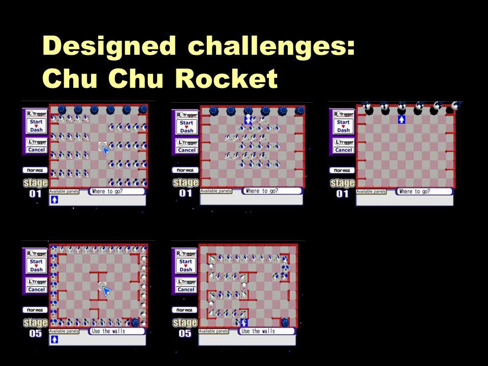 Designed challenges: Chu Chu Rocket