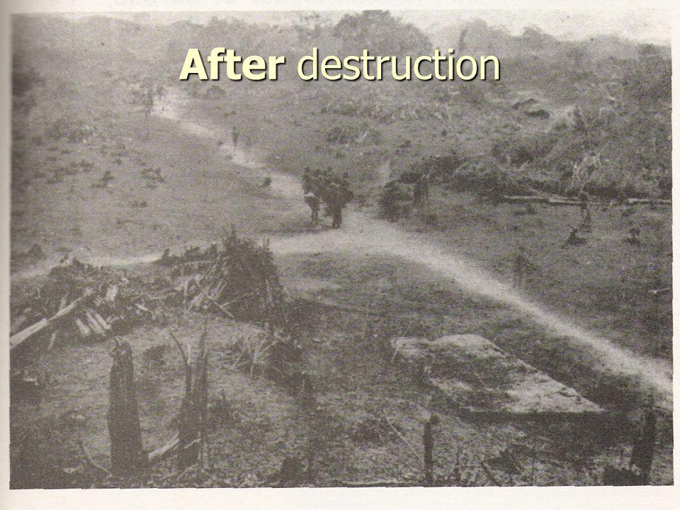 After destruction