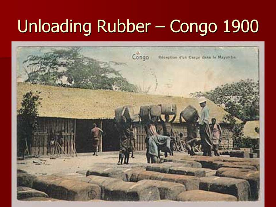Unloading Rubber – Congo 1900