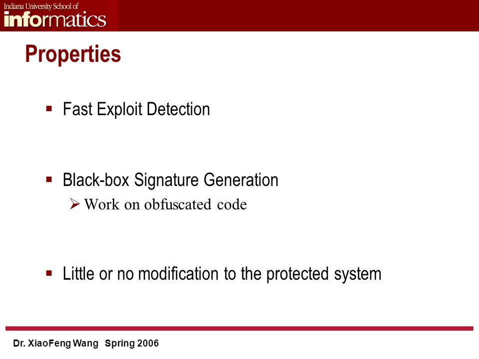 Dr. XiaoFeng Wang Spring 2006 Experiment: Signature Generation