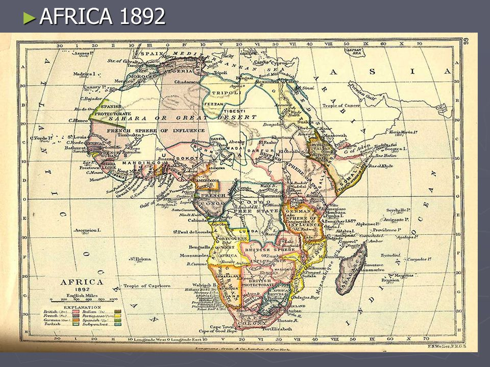 Scramble for Africa ► By 1914, 90% of Africa under European control  France in Northern (Algeria) and Western Africa  Britain from Egypt to South Africa  Belgium in the Congo  Italy in Libya and Eastern Africa  Portugal in southern Africa  Germany in scattered areas