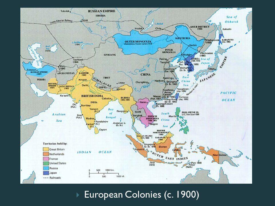  European Colonies (c. 1900)
